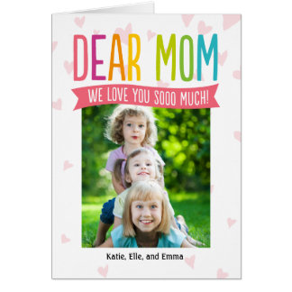 So Much Love Mothers Day Photo Card For Mom Cards