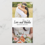 """So Much Love   Wedding Thank You Photo Card<br><div class=""""desc"""">Photographs provided courtesy of &#169;Blush Photography    For more colors and styles visit our shop!</div>"""