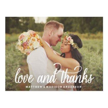 FINEandDANDY So Much Love | Wedding Thank You Postcard