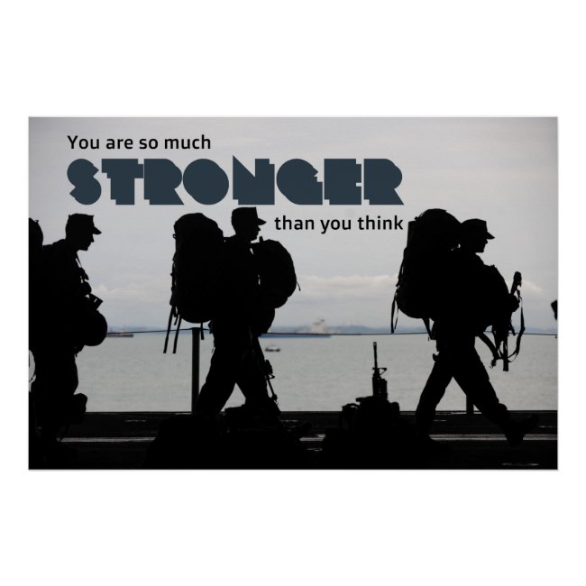 So Much Stronger Army Soldier Boot Camp Cadet Poster