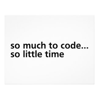 So Much To Code... Letterhead