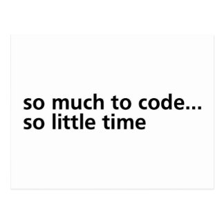 So Much To Code... Postcard