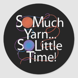 So Much Yarn Classic Round Sticker
