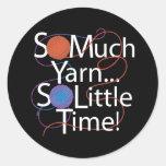 So Much Yarn Round Sticker