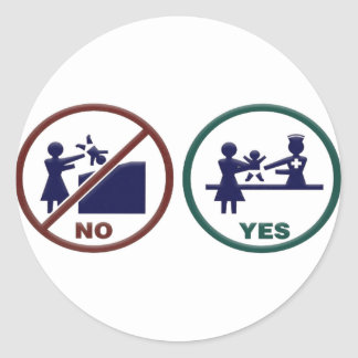 So No To Dumpster Babies Classic Round Sticker