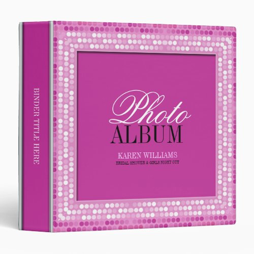 So Pink Girly Sparkle Photo Album Binder