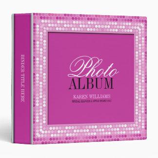 So Pink Girly Sparkle Photo Album Binder