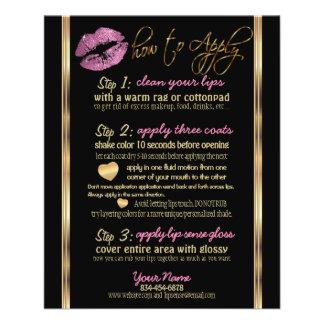 So Pink Glitter Lip Instructions Flyer