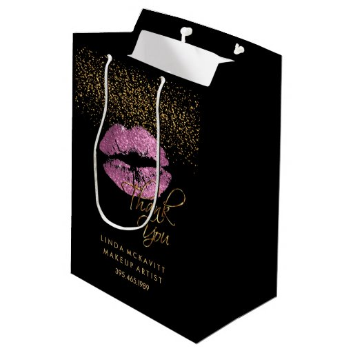 So Pink Glitter Lipstick - Thank You Medium Gift Bag