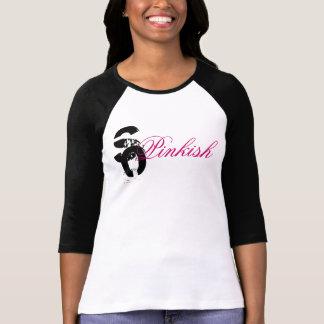 so pinkish black sleeve t shirt