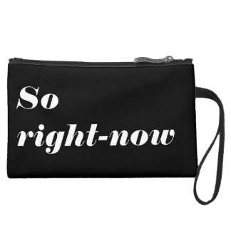 So right-now Sueded Mini Clutch