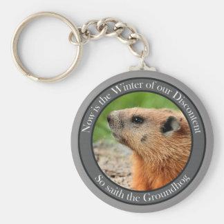 So saith the groundhog keychain