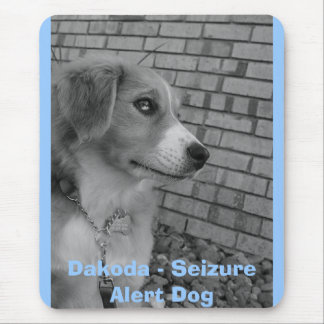so serious, Dakoda - Seizure Alert Dog Mouse Pad