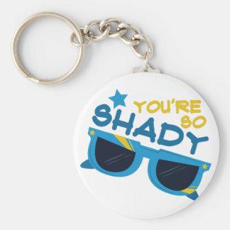 So Shady Basic Round Button Keychain