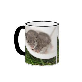 So Sleepy Baby Mice Ringer Mug
