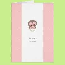 So Small, So Cute New Baby Congrats | Pink Girl Card