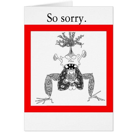 So sorry. card