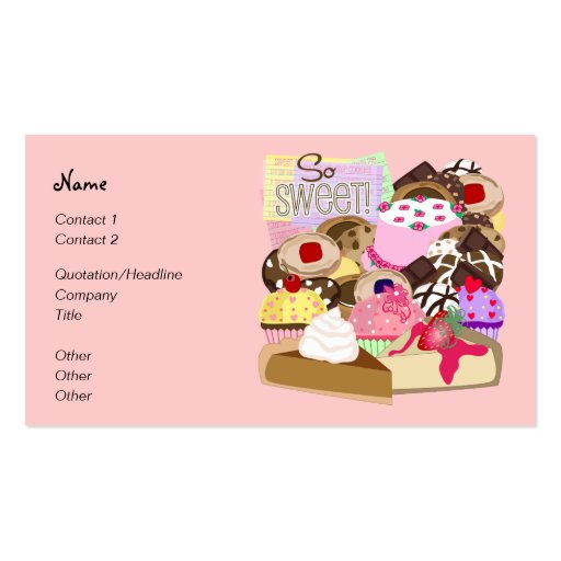 So Sweet! Business Card