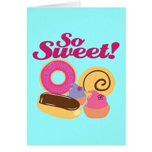So Sweet Desserts Card