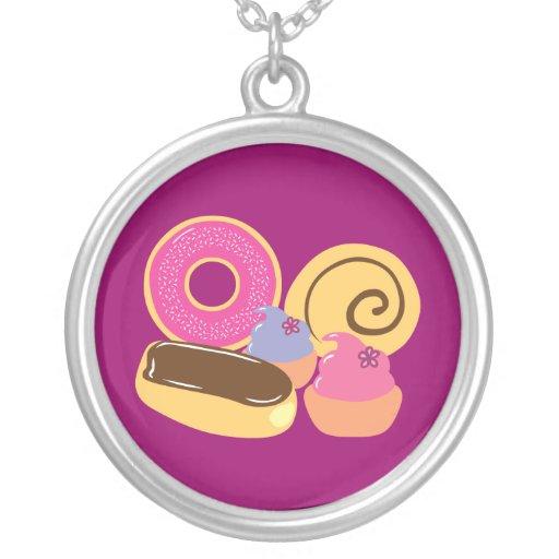 So Sweet Desserts Round Pendant Necklace