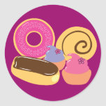 So Sweet Desserts Round Sticker
