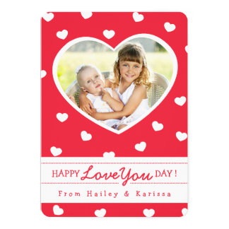 So Sweet Hearts Valentine Photo Card / Red