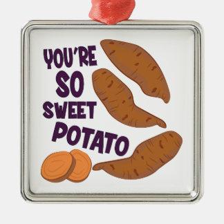 So Sweet Potato Metal Ornament