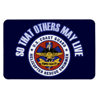 So That Others May Live - Coast Guard Rescue Rectangular Photo Magnet