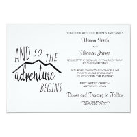 So The Adventure Begins Rustic Mountain Wedding Card