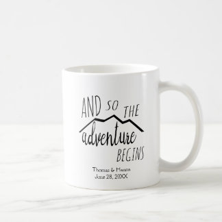 So The Adventure Begins Rustic Mountain Wedding Coffee Mug