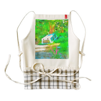 So this is where vehicles go zazzle HEART apron