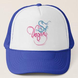 So Vegan Pink Blue Trucker Hat