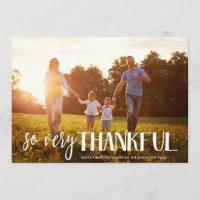 So Very Thankful | Photo Card | Custom Color