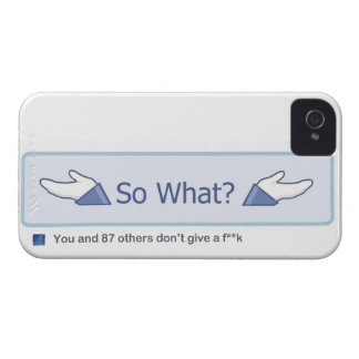 So What? (Facebook Button) Case-Mate iPhone 4 Case