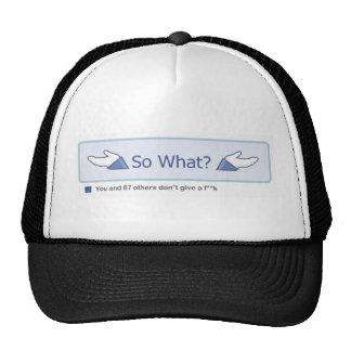 So What? (Facebook Button) Trucker Hat