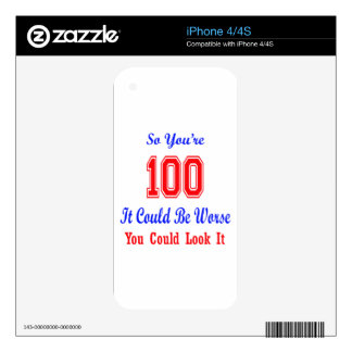 So you are 100 iPhone 4S skin