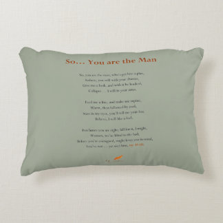 So... You are the Man Poem on Pillow