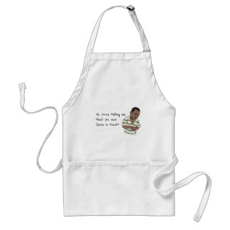So you're telling me  that you saw Jesus in toast? Adult Apron