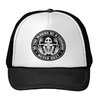 """So You Wanna Be A Frogman """"Never Quit"""" Patch Trucker Hat"""