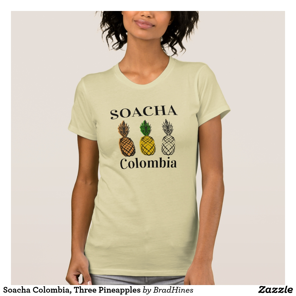 Soacha Colombia, Three Pineapples T-Shirt - Best Selling Long-Sleeve Street Fashion Shirt Designs
