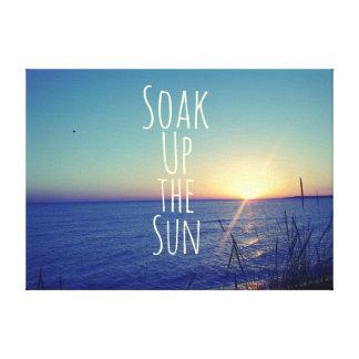 Soak up the Sun Quote Beach Canvas Print
