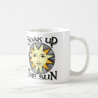 Soak up the sun spring break coffee mug