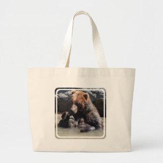 Soaking Bear Canvas Bags