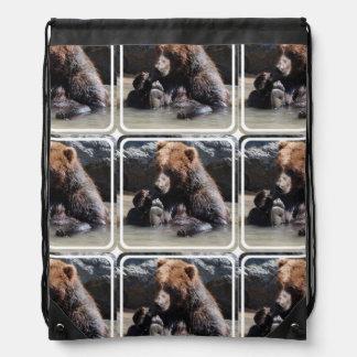Soaking Bear Cinch Bags