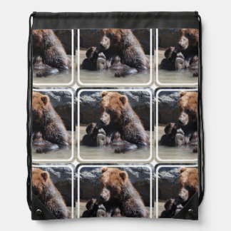 Soaking Bear Cinch Bag