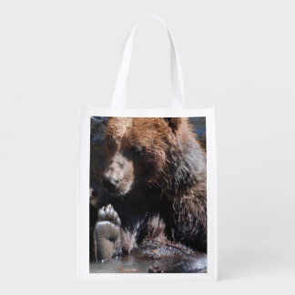 Soaking Bear Reusable Grocery Bag