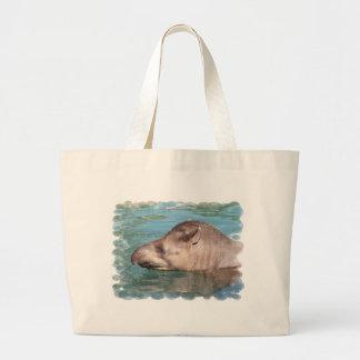 Soaking Tapir Canvas Bag