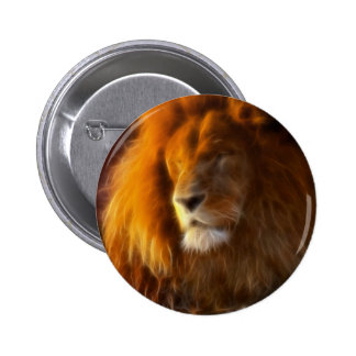 Soaking Up the Sun, King of the Jungle Lion II Pinback Button