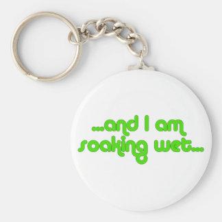 Soaking Wet Green Keychain