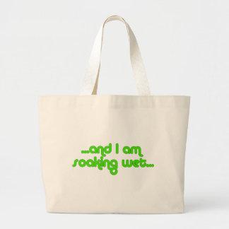 Soaking Wet Green Large Tote Bag